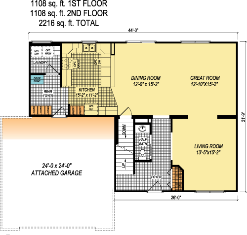 The Belaire custom floorplan
