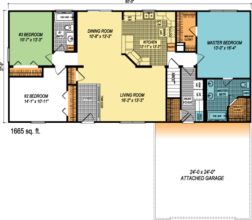 The Hampton custom floorplan