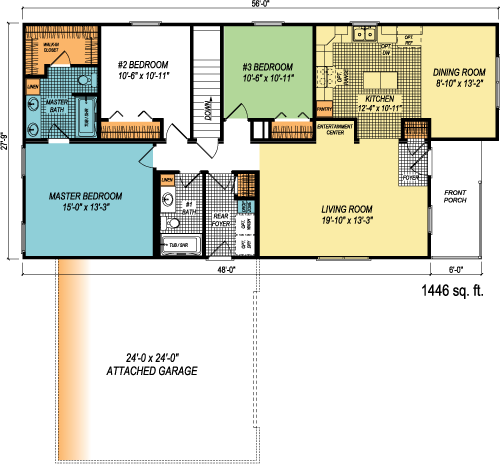 The Lyndell custom floorplan