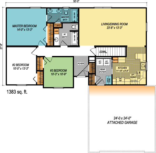 The Providence custom floorplan