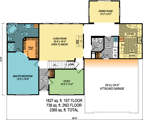 The Rosendale custom floorplan