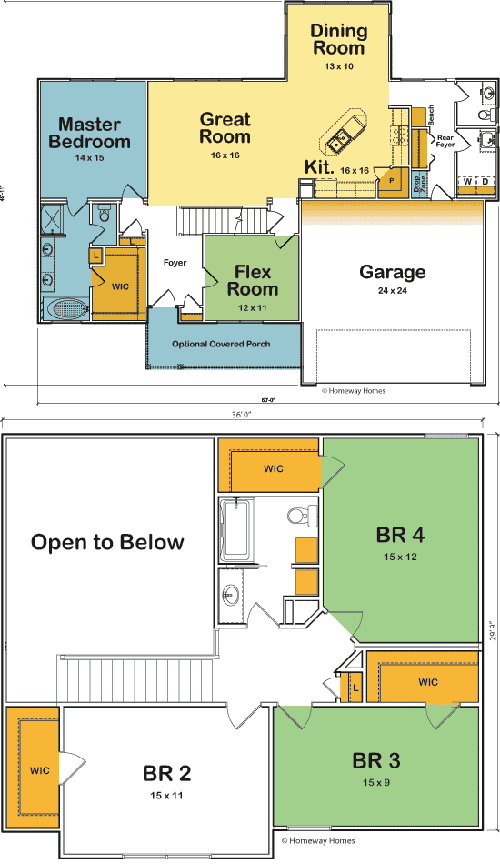 The Rochester custom floorplan