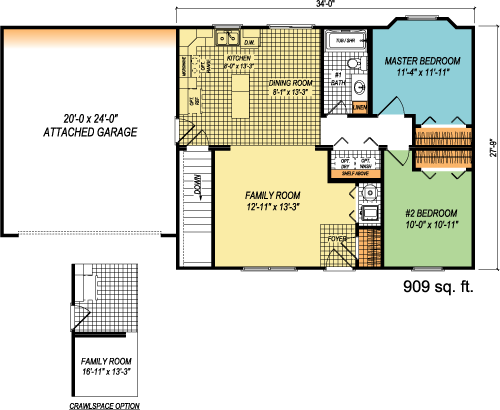 The Simplicity custom floorplan