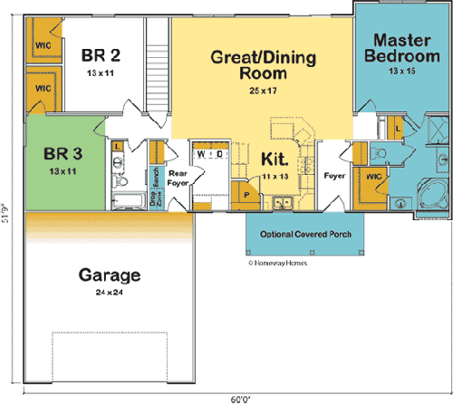 The Concord custom floorplan