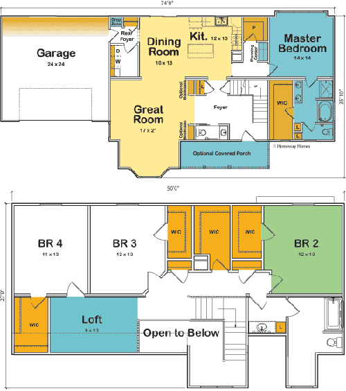 The Dakota custom floorplan