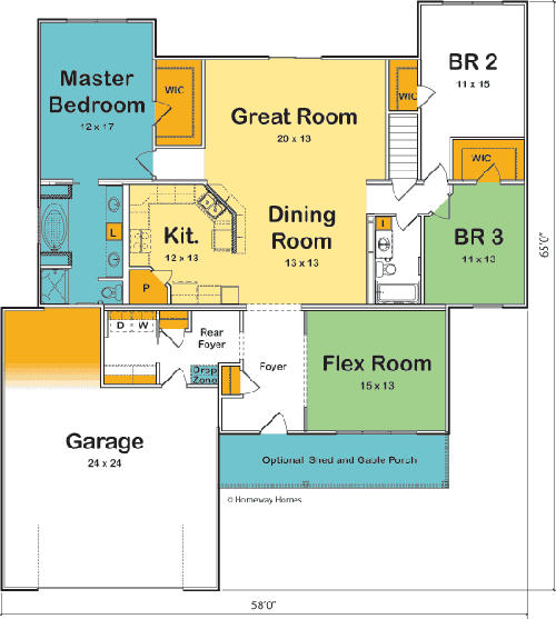 The Hamilton custom floorplan