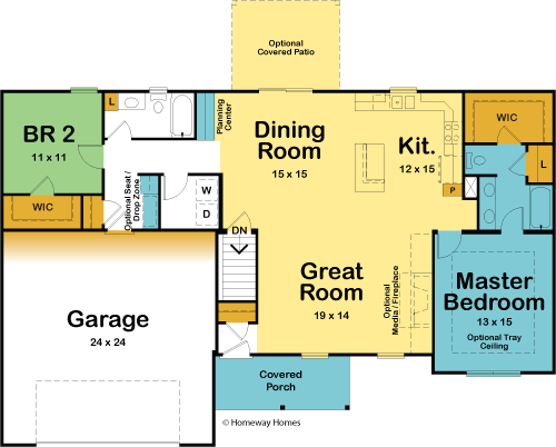 The Stonebrook custom floorplan