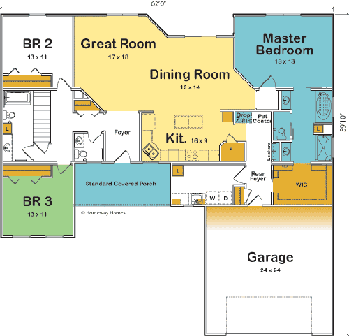 The Victoria custom floorplan