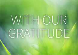 With Our Gratitude