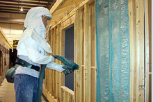 The Energy Strength Insulation in our central Illinois Modular Home Building Facility.